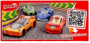 BPZ   orange Kinder   surprise  Sprinty    FF154